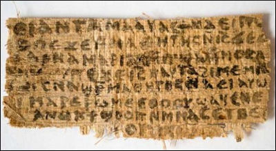 papyrus fragment in which Jesus seems to refer to his wife