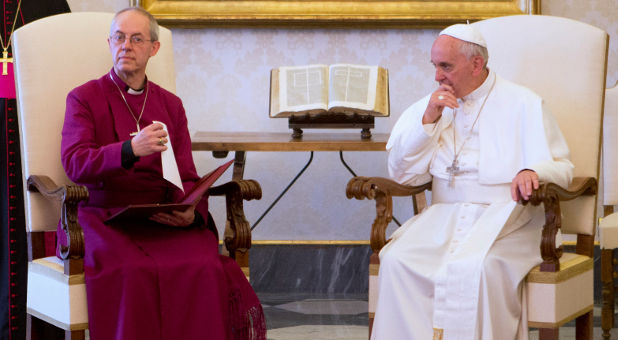 Archbishop of Canterbury Justin Welby, Pope Francis