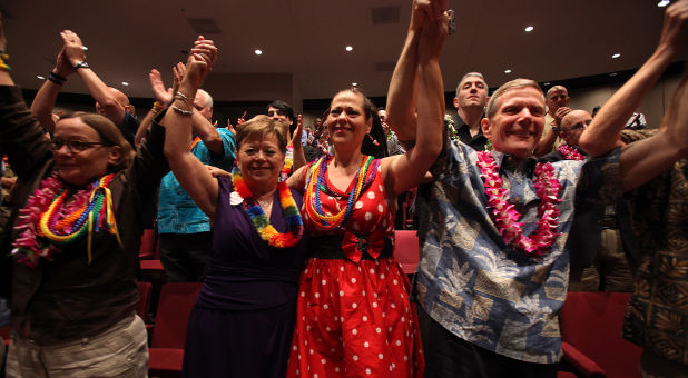 Hawaii gay marriage supporters