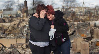 Hurricane Sandy victims grieve