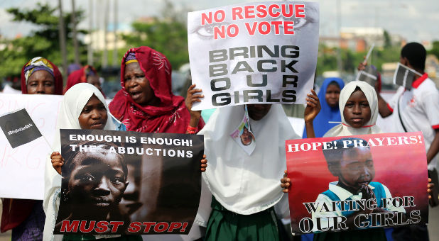 protesting Boko Haram kidnappings