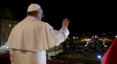 Pope Francis on St. Peter's balcony