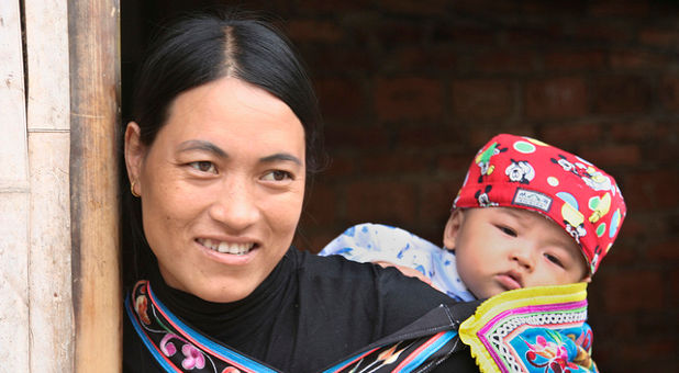 China mother and child
