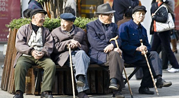 China, elderly men