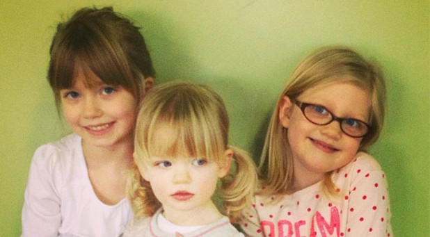From left: Natalie Grant's daughters, Isabella, Sadie and Grace