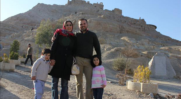 Pastor Saeed Abedini and his family.