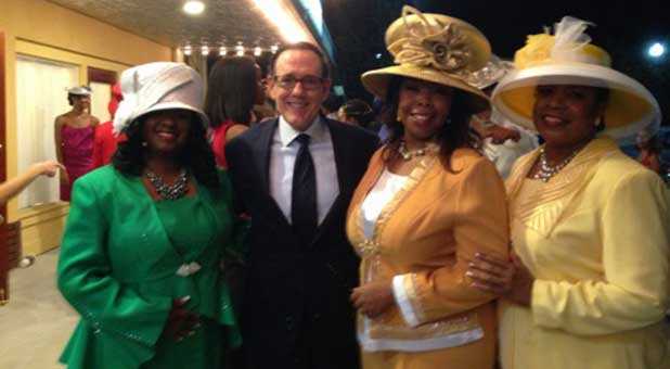 With Steve Strang, members of the 'Crowns' cast include, from left, Stephanie Williams, Jevon Bolden and Brenda Davis.