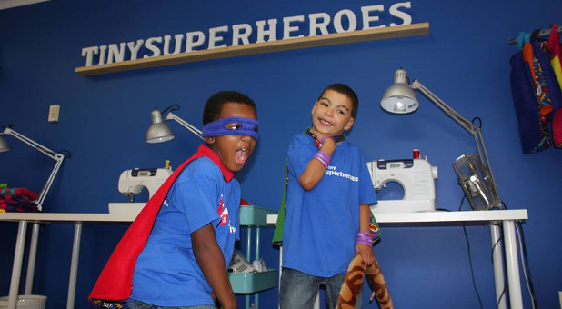 These are only two of the more than 1,700 children who have received 'Tiny Superheroes' capes.