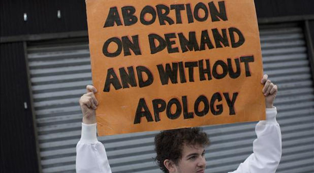 pro-abortion sign