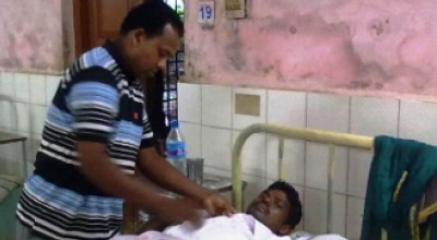 pastor at hospital in India