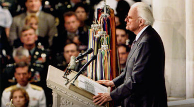 Billy Graham consoles nation after 9/11.