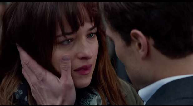 Dakota Johnson and Jamie Dornan in 'Fifty Shades of Grey.'