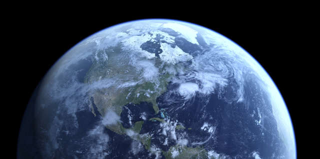 Does what Job said about Earth match up to what modern-day astronauts see?