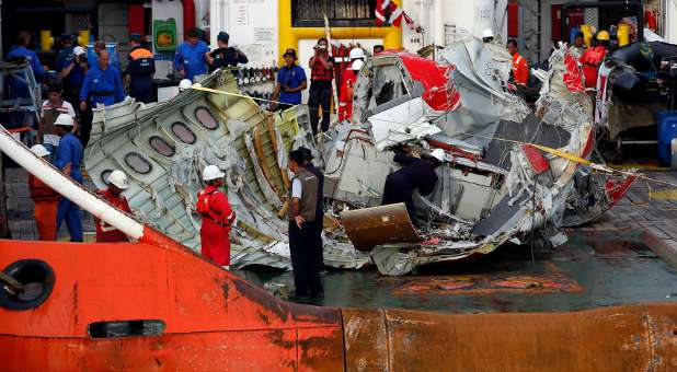 Wreckage from the Air Asia 8501