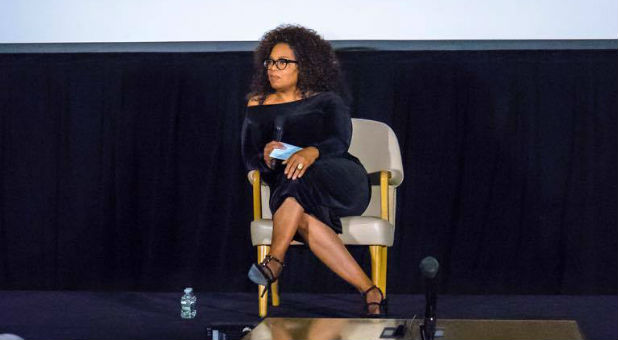 """Oprah's sudden river of religious talk is not based on some newfound appreciation for Christianity. It's marketing spin for her new series, Belief, which the media pioneer describes as a """"groundbreaking"""" television event exploring humanity's ongoing search to connect with something greater than ourselves."""