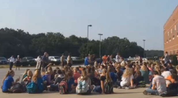 Hillsboro High School's student walked out in protest.