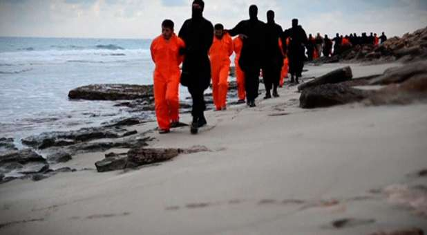 21 Coptic Christians being beheaded