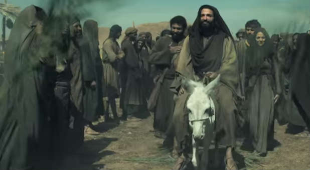 While filming this scene in National Geographic's version of 'Killing Jesus,' the actor who plays Peter says the Spirit was moving.