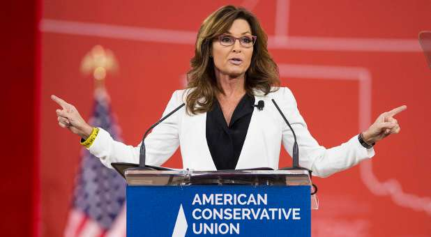 Former Republican Governor of Alaska Sarah Palin speaks at the 42nd annual Conservative Political Action Conference (CPAC).