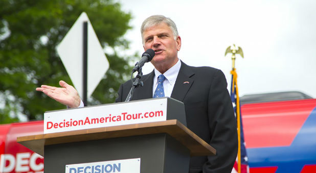 Franklin Graham at a Decision America Tour Stop.
