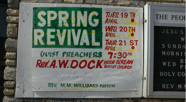 The very idea that we can organize revival is a rather strange idea to me.