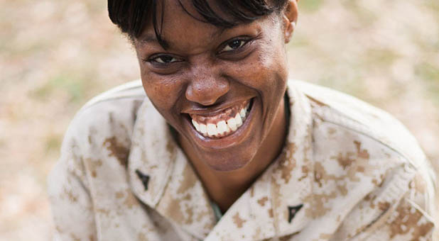 Marine Lance Cpl. Monifa Sterling was court-martialed for posting a Bible verse in her work station