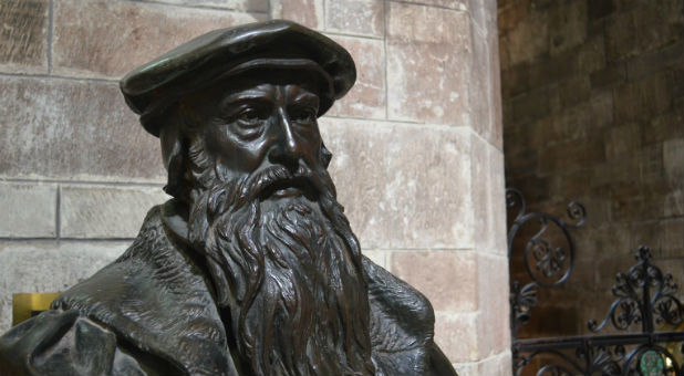 A trusted prophet friend of his had a vision of John Knox, a Scottish clergyman and leader of the Protestant Reformation in the 1500s, standing behind him.