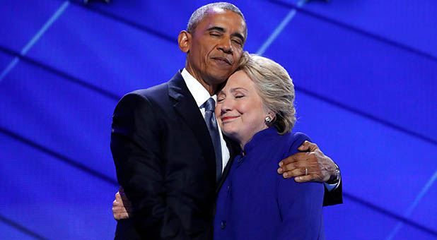 President Obama and former Secretary of State Clinton