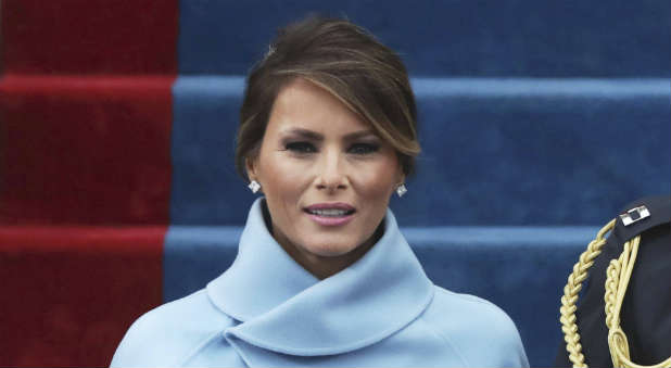 First Lady Melania Trump recited the Lord's Prayer today.