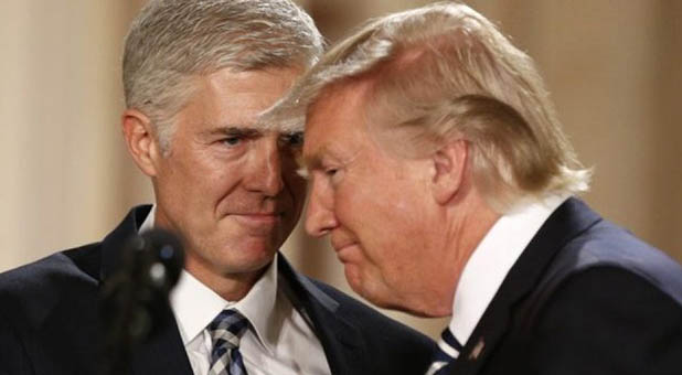 President Donald Trump and Judge Neil Gorsuch