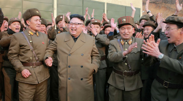 North Korean leader Kim Jong Un watched the ground jet test of a Korean-style high-thrust engine newly developed by the Academy of the National Defense Science