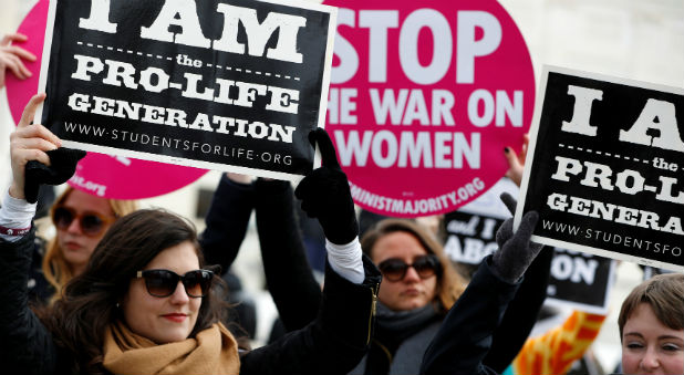 Pro-life activists gather for the National March for Life rally in Washington