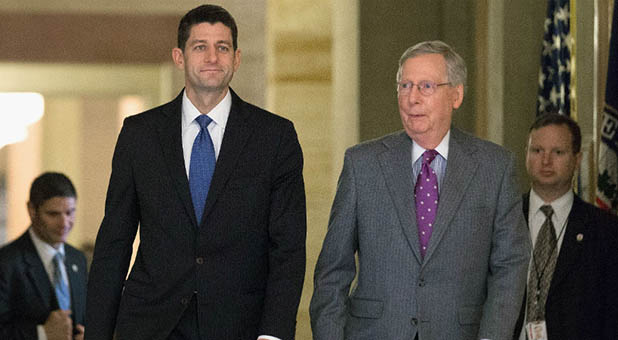 Speaker of the House Paul Ryan (R-Wis.) and Senate Majority Leader Mitch McConnell (R-Ky.)