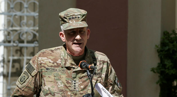 General John Nicholson, the head of U.S. and international forces in Afghanistan, said the bomb was used against caves and bunkers housing fighters of the Islamic State in Afghanistan, also known as ISIS-K.