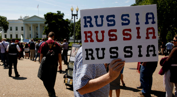 Protesters gather to rally against U.S. President Donald Trump's firing of Federal Bureau of Investigation (FBI) Director James Comey, outside the White House.