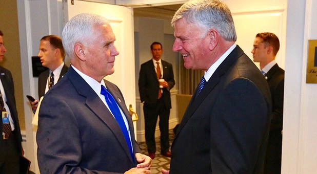 Vice President Mike Pence and Rev. Franklin Graham