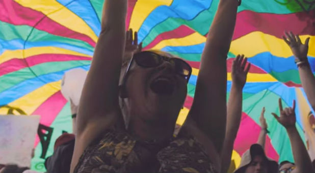 """Under the banner of """"Love Bonnaroo,"""" Christians came together from churches and ministries to engage in intercession, worship and creative evangelism."""