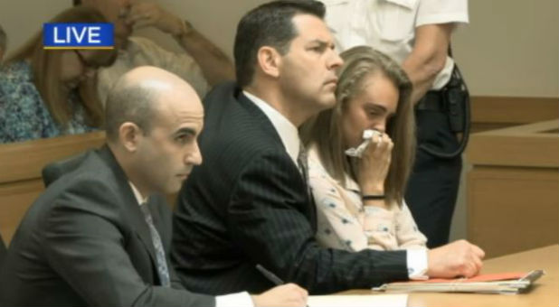 Michelle Carter with her attorneys.