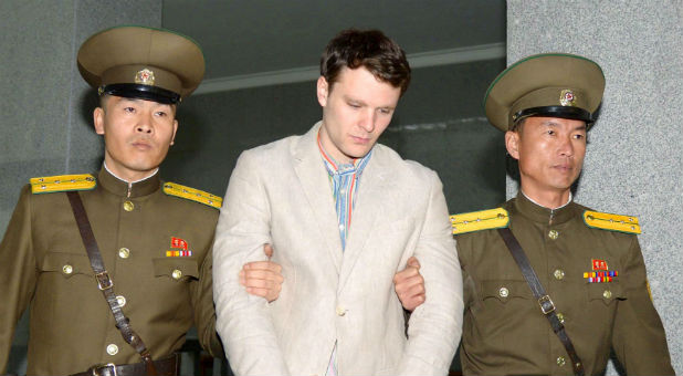 """Despite the """"severe"""" injury, Otto Warmbier, 22, is stable and receiving treatment at the University of Cincinnati Medical Center, center spokeswoman Kelly Martin said at a news briefing at Warmbier's high school in Wyoming, Ohio."""