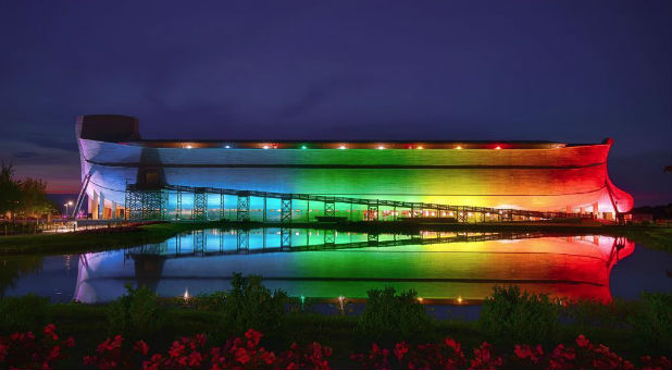 """The man behind the world-famous Ark Encounter has decided to reclaim """"God's rainbow""""—announcing the massive ark exhibit will be permanently bathed in rainbow lights."""