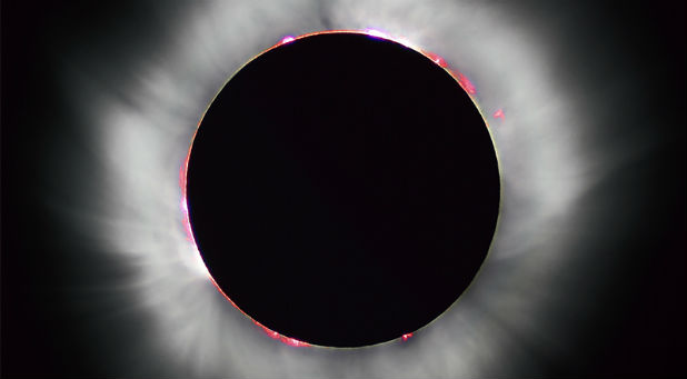 This total solar eclipse in 1999 occurred when the moon completely covered the sun's disk.