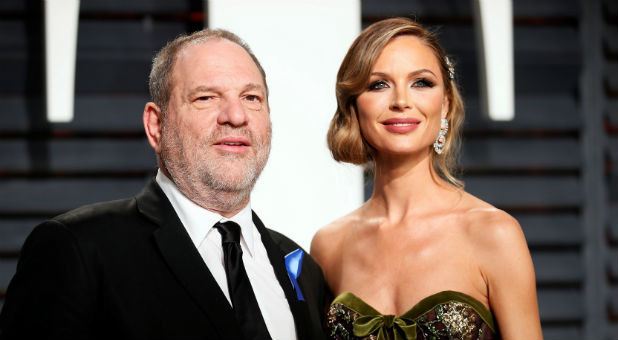 Harvey Weinstein with Gloria Chapman.