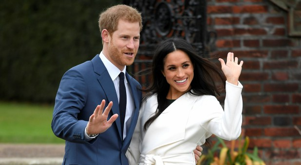 Prince Harry with his fiancee, Meghan Markle.