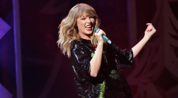Singer Taylor Swift performs during the 2017 Jingle Ball at Madison Square Garden in New York.