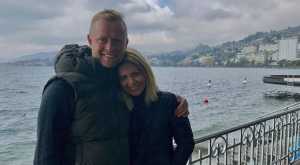 Candace Cameron Bure, right, with her husband Valeri Bure.