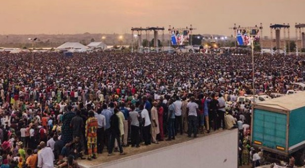 One of the rallies at Reinhard Bonnke's Farewell Crusade