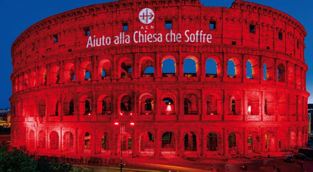 One of the world's most notorious sites of Christian persecution—the Colosseum in Rome—will be bathed in red light tomorrow.
