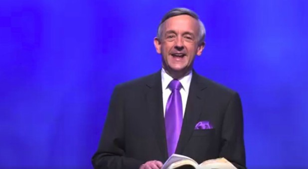 Pastor Robert Jeffress preaches on Easter morning.