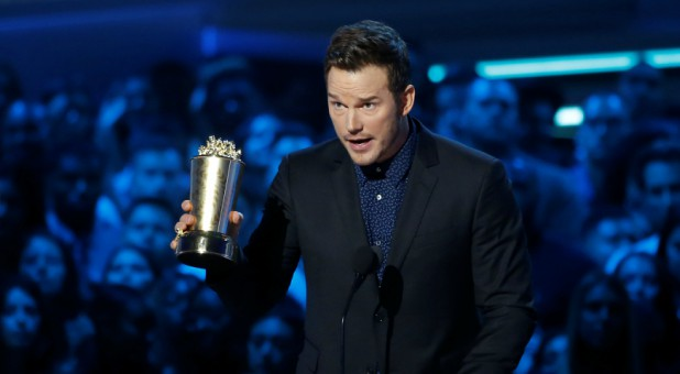 Actor Chris Pratt accepts the Generation Award at the 2018 MTV Movie & TV Awards.