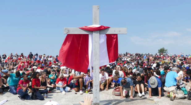 People repent on the top of Stone Mountain.